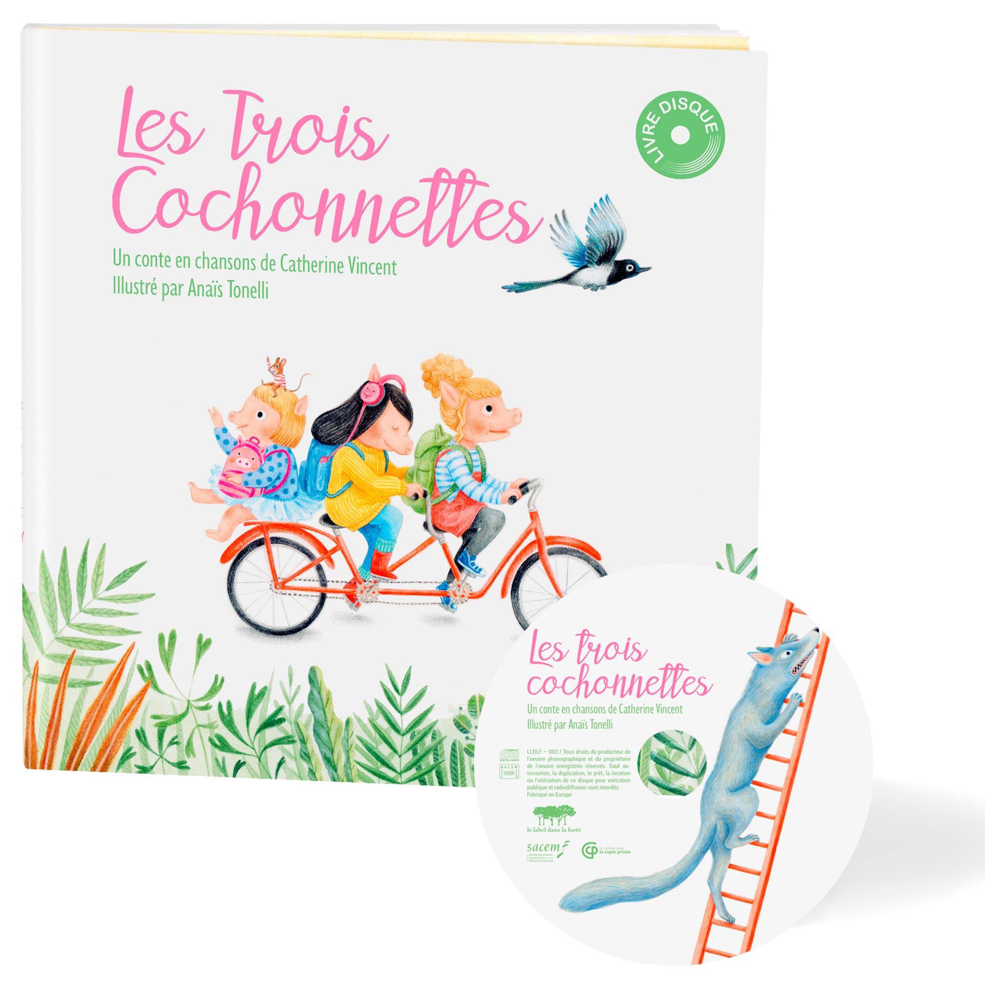 Le Label dans la Foret - Les Trois Cochonnettes - Catherine Vincent - Packshot
