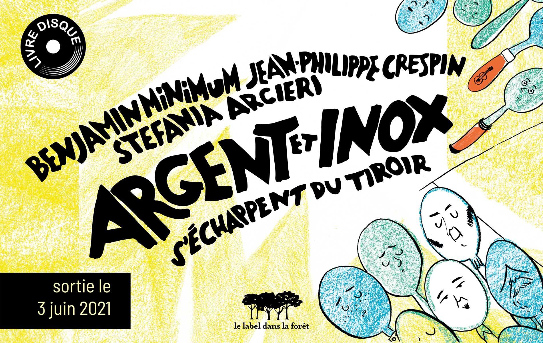 Le label dans la foret - Argent et Inox - Slider